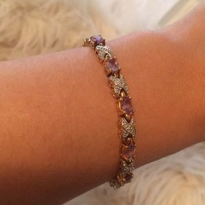 Jewelry - Silver and gold with amethyst tennis bracelet